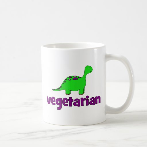 Vegetariano - design do dinossauro canecas