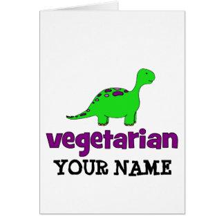 Vegetariano - design do dinossauro cartões