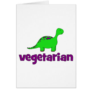 Vegetariano - design do dinossauro cartoes