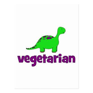 Vegetariano - design do dinossauro cartões postais