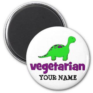 Vegetariano - design do dinossauro imãs