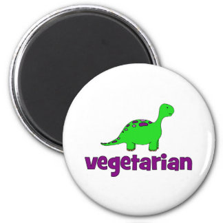 Vegetariano - design do dinossauro imas de geladeira