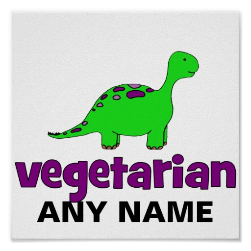 Vegetariano - design do dinossauro posters