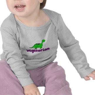 Vegetariano - design do dinossauro camisetas
