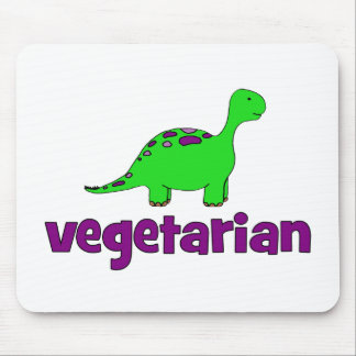 Vegetariano - design do dinossauro mousepad
