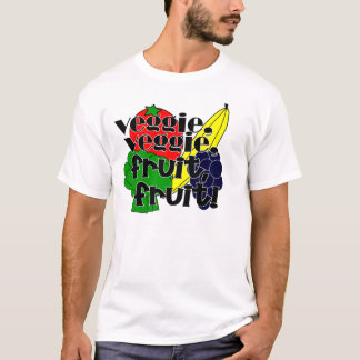 Vegetariano do vegetariano, fruta da fruta! camiseta