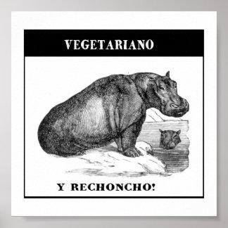 Vegetariano e gordinho pôster