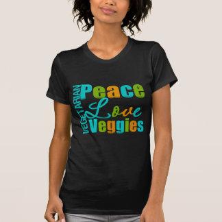 Vegetarianos do amor da paz do vegetariano t-shirts