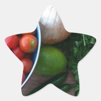 Vegetarianos frescos do jardim adesito estrela