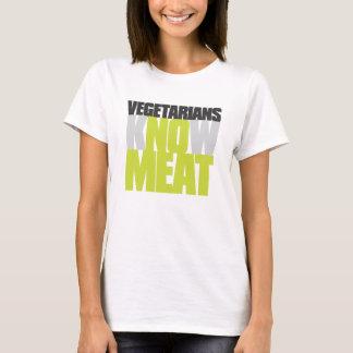 Vegetarianos nenhuma carne camiseta