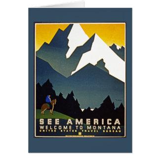 Veja América - boa vinda a Montana Cartão Comemorativo