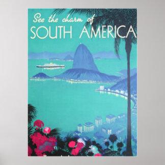 Veja Ámérica do Sul imprimir Poster