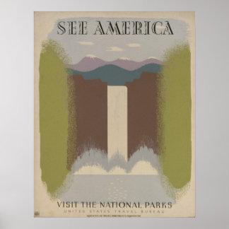 Veja América: Visite os parques nacionais Pôster