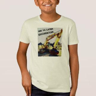 """""""Veja camisa de uma máquina escavadora mais"""