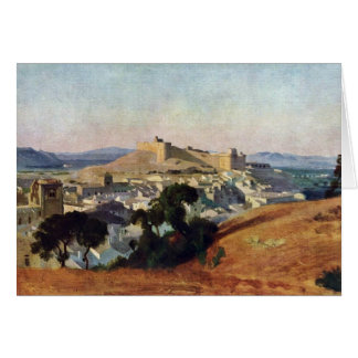 Veja de Villeneuve-Les-Avignon o Santo-Um do forte Cartão Comemorativo