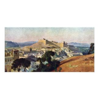 Veja de Villeneuve-Les-Avignon o Santo-Um do forte Cartão Com Foto Personalizado