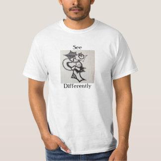 Veja diferentemente t-shirts