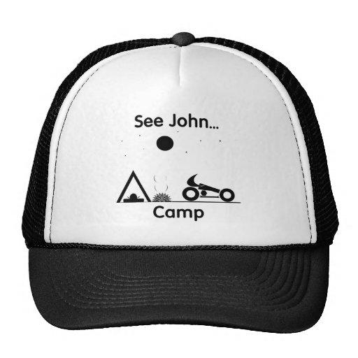 Veja o acampamento de John… (branco) Bone