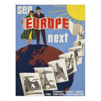 Veja o cartão do poster das viagens vintage de