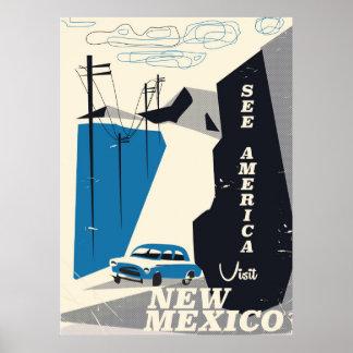 Veja o poster das viagens vintage de América - de