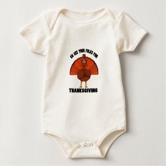 Veja seus povos para a acção de graças body para bebê
