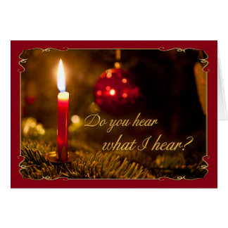 Vela de incandescência do Natal ou do cartão com