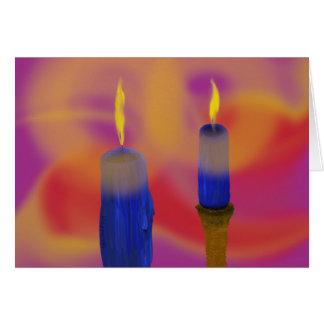 velas azuis do cartão 2 customizáveis