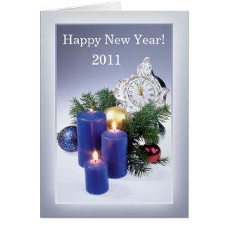 Velas, cartão do ano novo do pulso de disparo