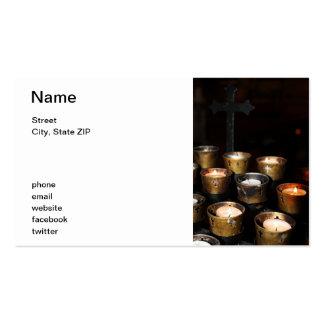 Velas da igreja cartões de visita