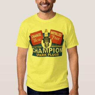 velas de ignição do campeão t-shirt