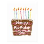 Velas do aniversário cartoes postais
