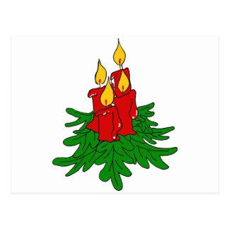 velas do Natal Cartões Postais