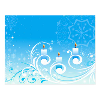 Velas felizes do feriado cartões postais