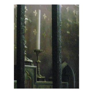 Velas góticos da igreja modelos de papel de carta