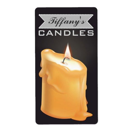 Velas Handmade caseiros personalizadas das velas | Etiqueta De Frete