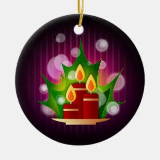Velas redondas do feriado enfeite para arvore de natal