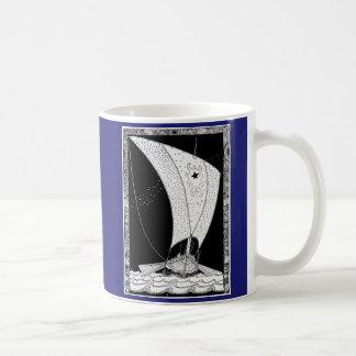Veleiro de Viking Longship Caneca De Café