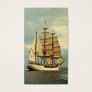 Veleiro do navio do vintage cartão de visitas
