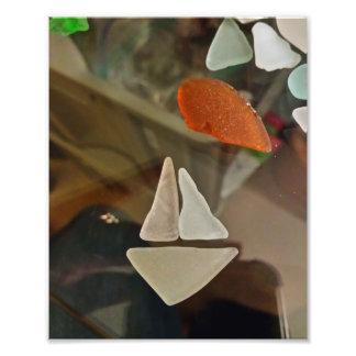 Veleiro do Seashell Impressão De Foto