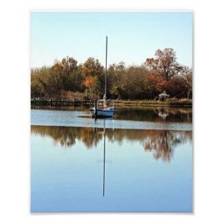 Veleiro e reflexão impressão de fotos