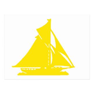 Veleiro lg-transp amarelo Vero Beach O MUSEU Za Cartao Postal