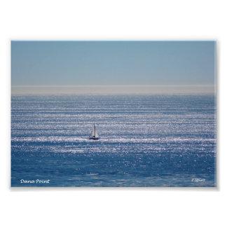 Veleiro no impressão do mar fotografias