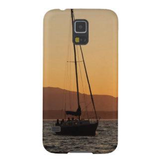 Veleiro no por do sol em Puget Sound Capinha Galaxy S5