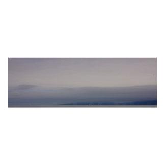 Veleiros na costa impressão fotográficas