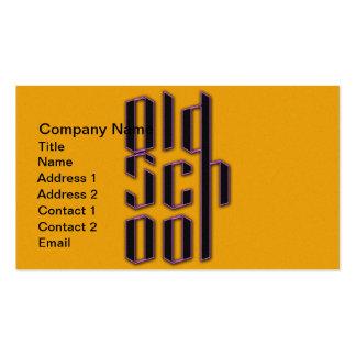 Velha escola amarela cartão de visita
