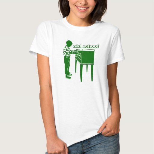 Velha escola camisetas