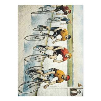 Velha escola SUPERIOR do ciclismo Convite Personalizados