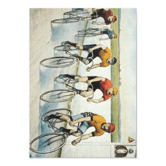 Velha escola SUPERIOR do ciclismo Convite 12.7 X 17.78cm