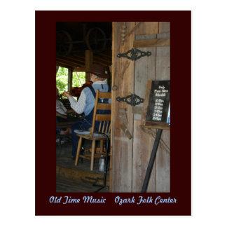 ~ velho da música do tempo o violinista cartão postal