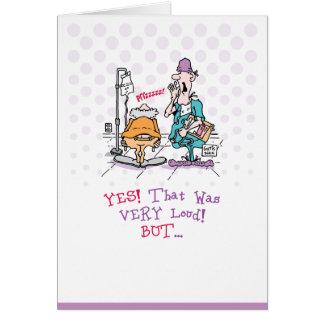 Velho Fart o cartão de aniversário